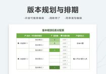 版本规划排期计划表.xlsx