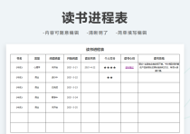 读书进程表.xlsx