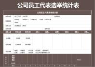 公司员工代表选举统计表.xls