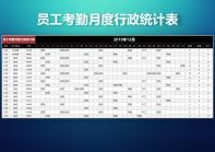 员工考勤月度行政统计表.xlsx
