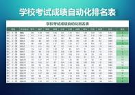 学校考试成绩自动化排名表.xlsx
