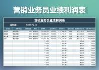 营销业务员业绩利润表.xlsx