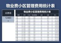 物业费小区管理费用统计表.xls