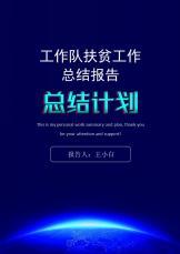工作队扶贫工作汇报(范本).docx