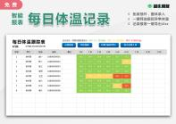 每日体温跟踪记录表(一键导出)-超级模板.xlsx