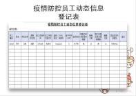 疫情防控员工动态信息登记表.xlsx