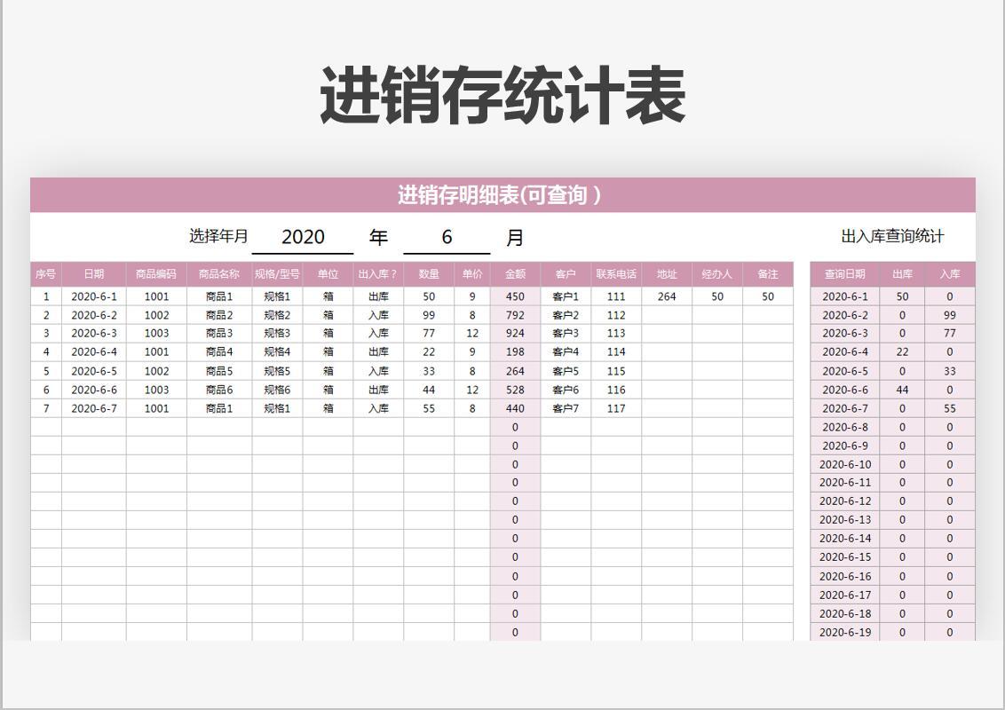 进销存统计表(带公式).xlsx
