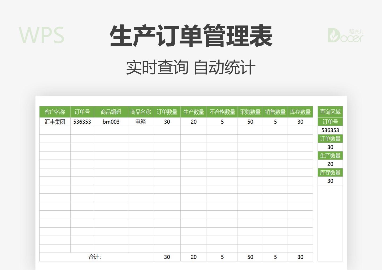 生产订单管理表.xlsx