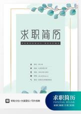 小清新绿叶插画财务简历套装.docx