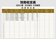 财务收支表(自动日记账表).xlsx