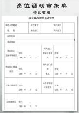 岗位调动审批单-行政管理.docx