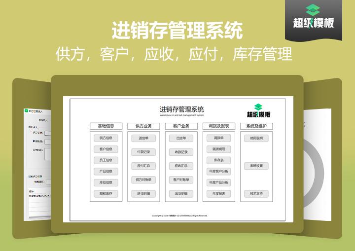 【免费试用】多仓位进销存管理-超级模板.xlsx.xlsx
