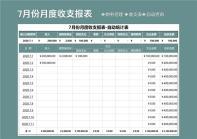 7月份月度收支报表-自动统计表.xlsx