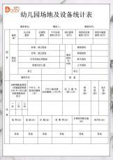 幼儿园场地及设备统计表.docx