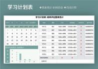 学习计划表-成绩评定图表统计.xls