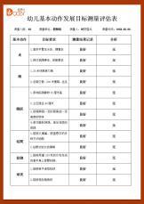 幼儿基本动作发展目标测量评估表.docx