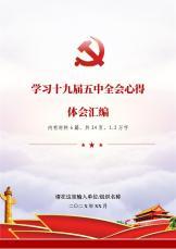 学习党的十九届五中全会心得体会汇编.docx