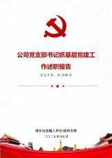 公司党支部书记抓基层党建工作述职报告.docx