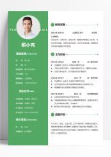 绿色简约风高中化学教师3年简历.docx