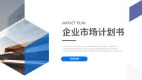 蓝色企业市场计划书PPT.pptx