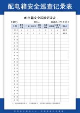 配电箱安全巡检记录表.docx